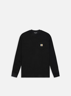 Carhartt - Pocket LS T-shirt, Black
