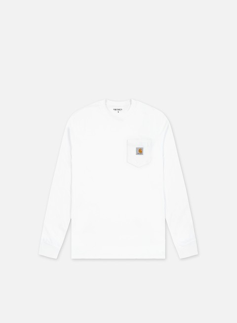 t shirt carhartt pocket ls t shirt white