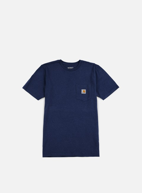t shirt carhartt pocket t shirt blue heather