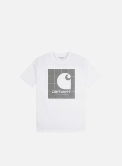Carhartt - Reflective Square T-shirt, White/Reflective Grey
