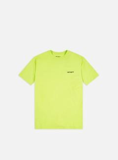 Carhartt - Script Embroidery T-shirt, Lime/Black