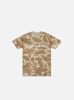Carhartt - Script T-shirt, Camo Brush/Sendshell/White