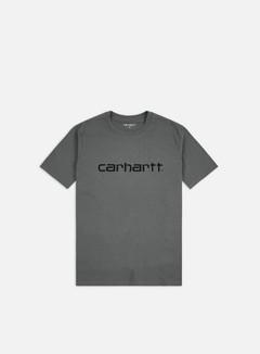 Carhartt - Script T-shirt, Cotton Husky/Black