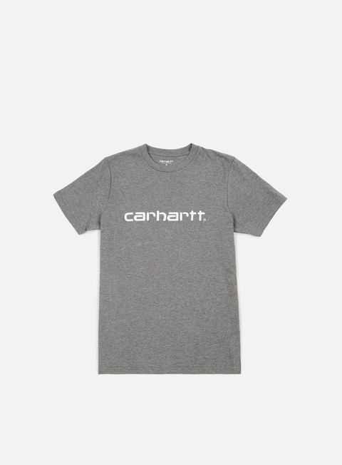 t shirt carhartt script t shirt dark grey heather white