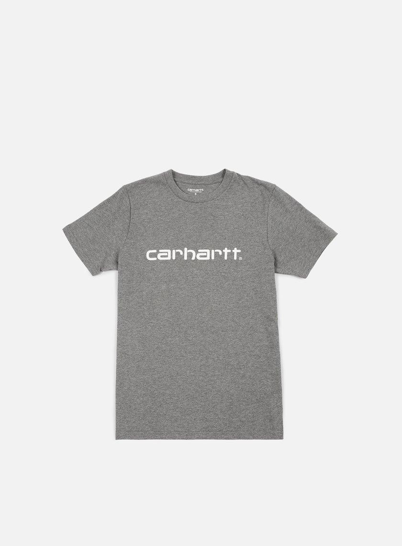 Carhartt - Script T-shirt, Dark Grey Heather/White