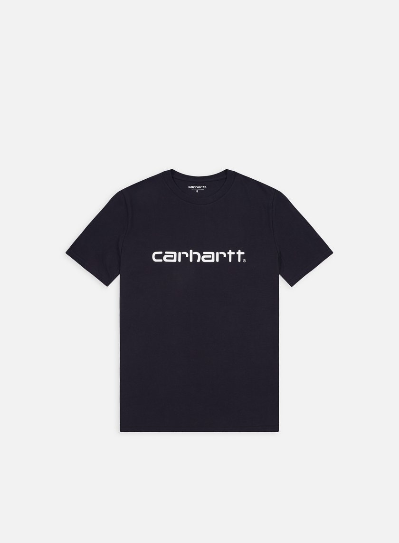 Carhartt - Script T-shirt, Dark Navy/White