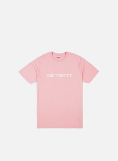 Carhartt - Script T-shirt, Sandy Rose/White