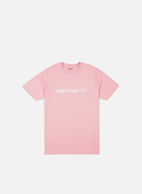 t shirt carhartt script t shirt sandy rose white