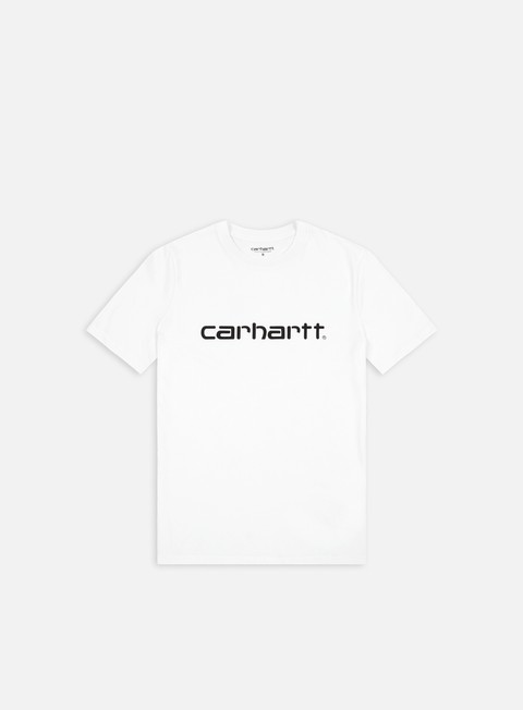 t shirt carhartt script t shirt white black