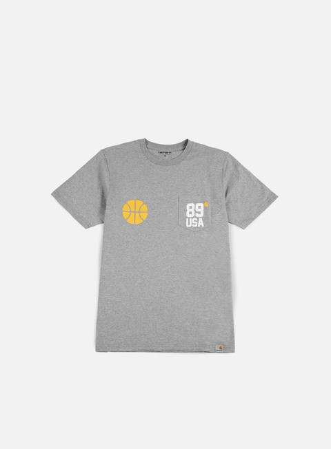 t shirt carhartt usa sports pocket t shirt grey heather