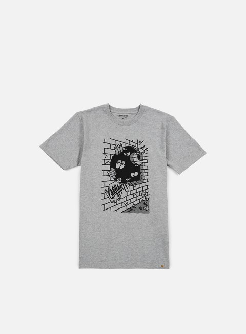 t shirt carhartt wall c t shirt grey heather