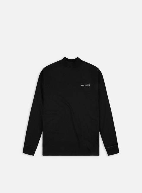 Long sleeve T-shirts Carhartt WIP Mockneck Script Embro LS T-shirt