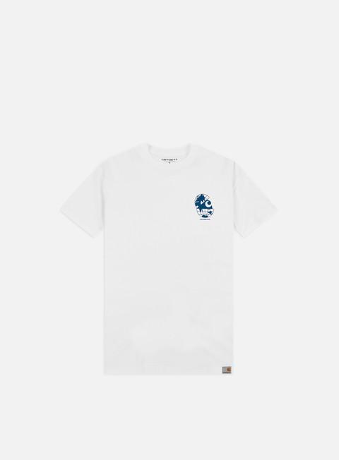 Outlet e Saldi T-shirt a Manica Corta Carhartt WIP Radio T-shirt,White/Blue