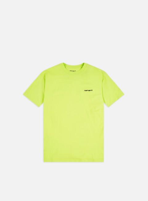 Outlet e Saldi T-shirt a Manica Corta Carhartt WIP Script Embroidery T-shirt