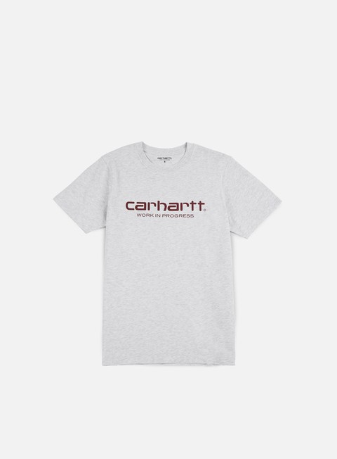 t shirt carhartt wip script t shirt ash heather varnish