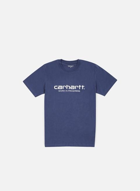 t shirt carhartt wip script t shirt blue white