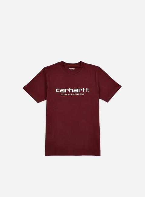 t shirt carhartt wip script t shirt chianti white