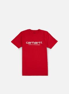 Carhartt - Wip Script T-shirt, Chili/White