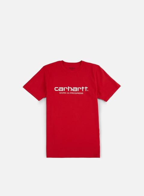 t shirt carhartt wip script t shirt chili white