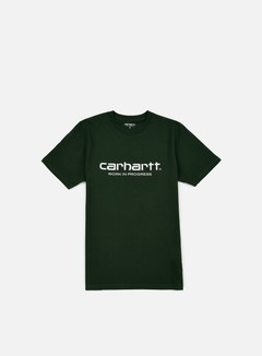 Carhartt - Wip Script T-shirt, Conifer/White 1