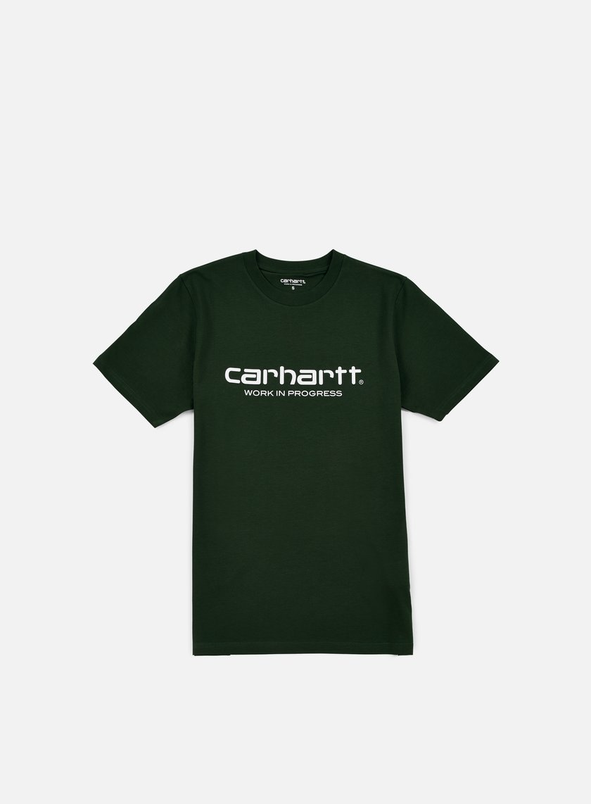 Carhartt - Wip Script T-shirt, Conifer/White