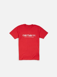 Carhartt - Wip Script T-shirt, Fire/White