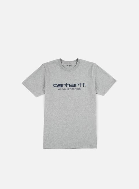 t shirt carhartt wip script t shirt grey heather navy