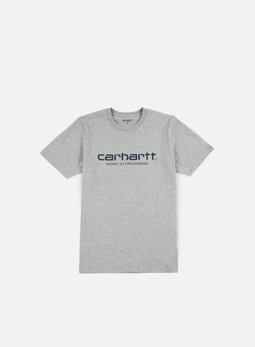 Carhartt - Wip Script T-shirt, Grey Heather/Navy
