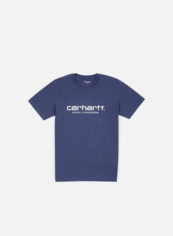 Carhartt - Wip Script T-shirt, Light Blue/White