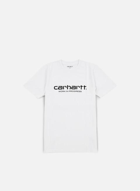 t shirt carhartt wip script t shirt white black