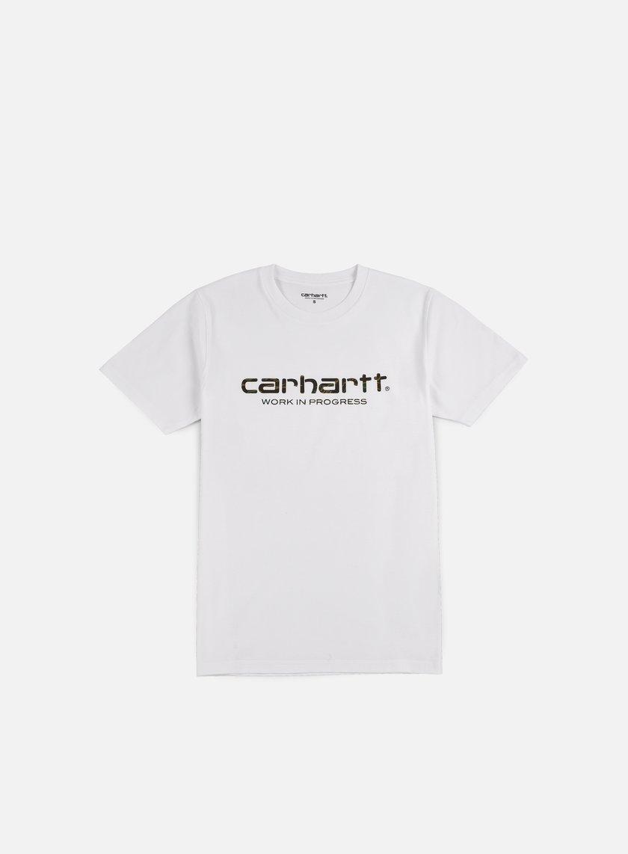 Carhartt - Wip Script T-shirt, White/Camo Tiger