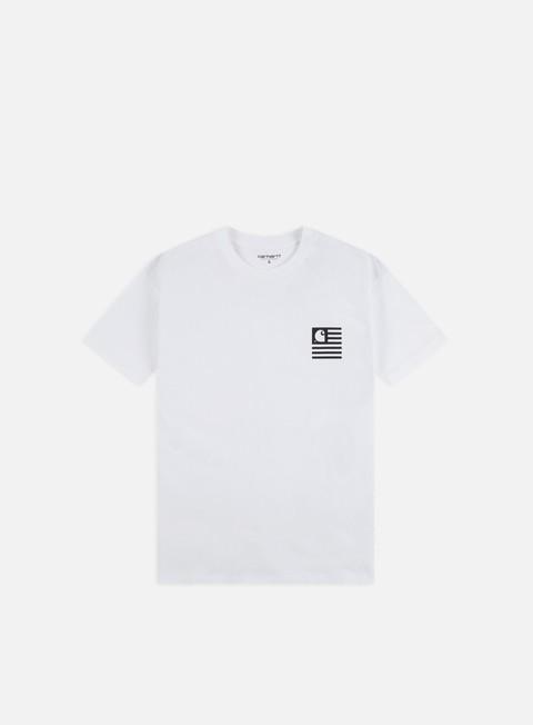 Outlet e Saldi T-shirt a Manica Corta Carhartt WIP State Patch T-shirt