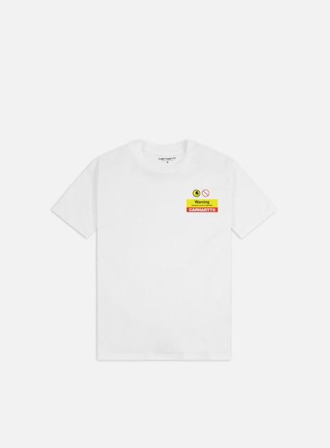 Outlet e Saldi T-shirt a Manica Corta Carhartt WIP Warning T-shirt