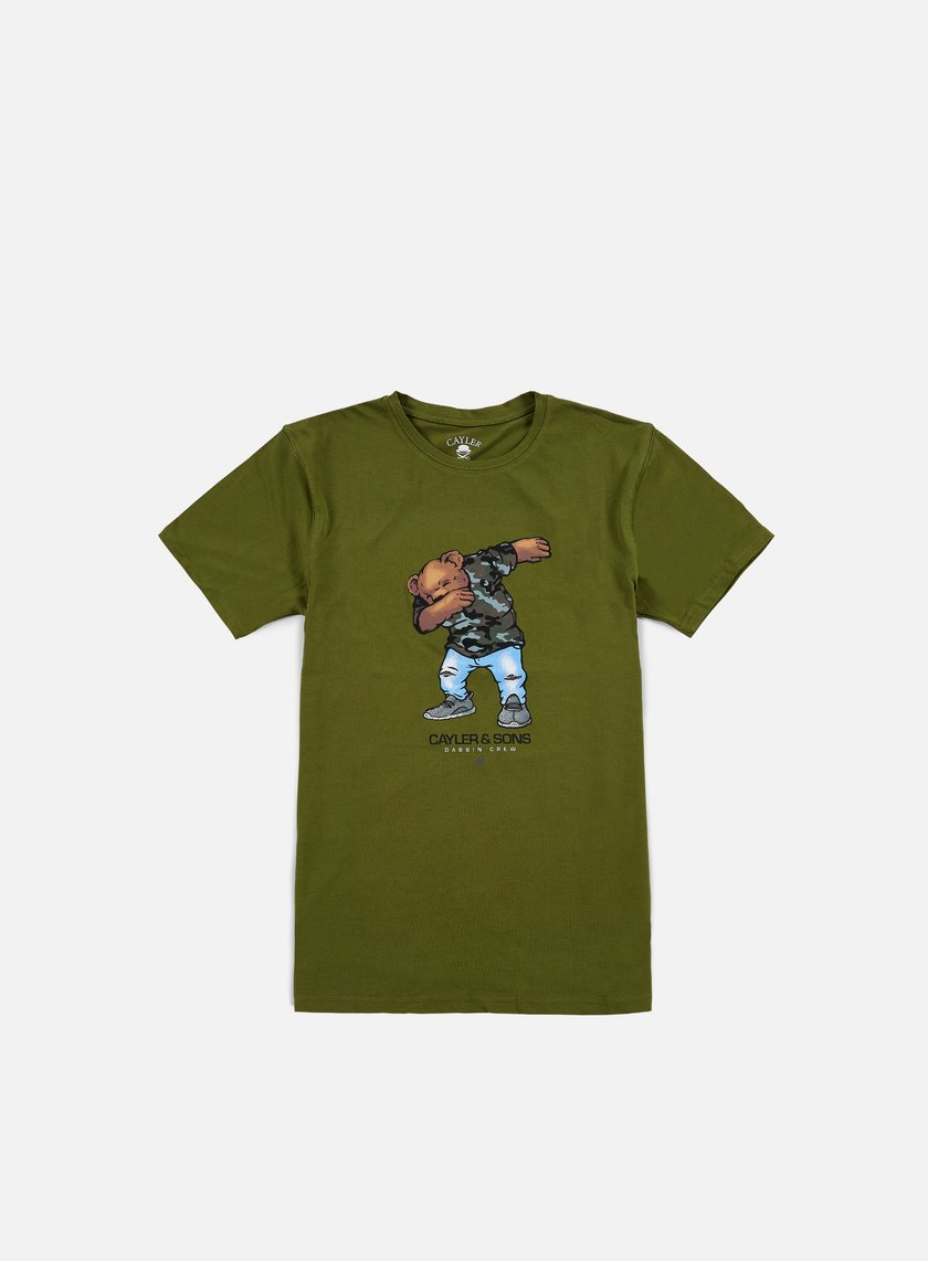 Cayler & Sons - Dabbin Crew T-shirt, Olive/Multi