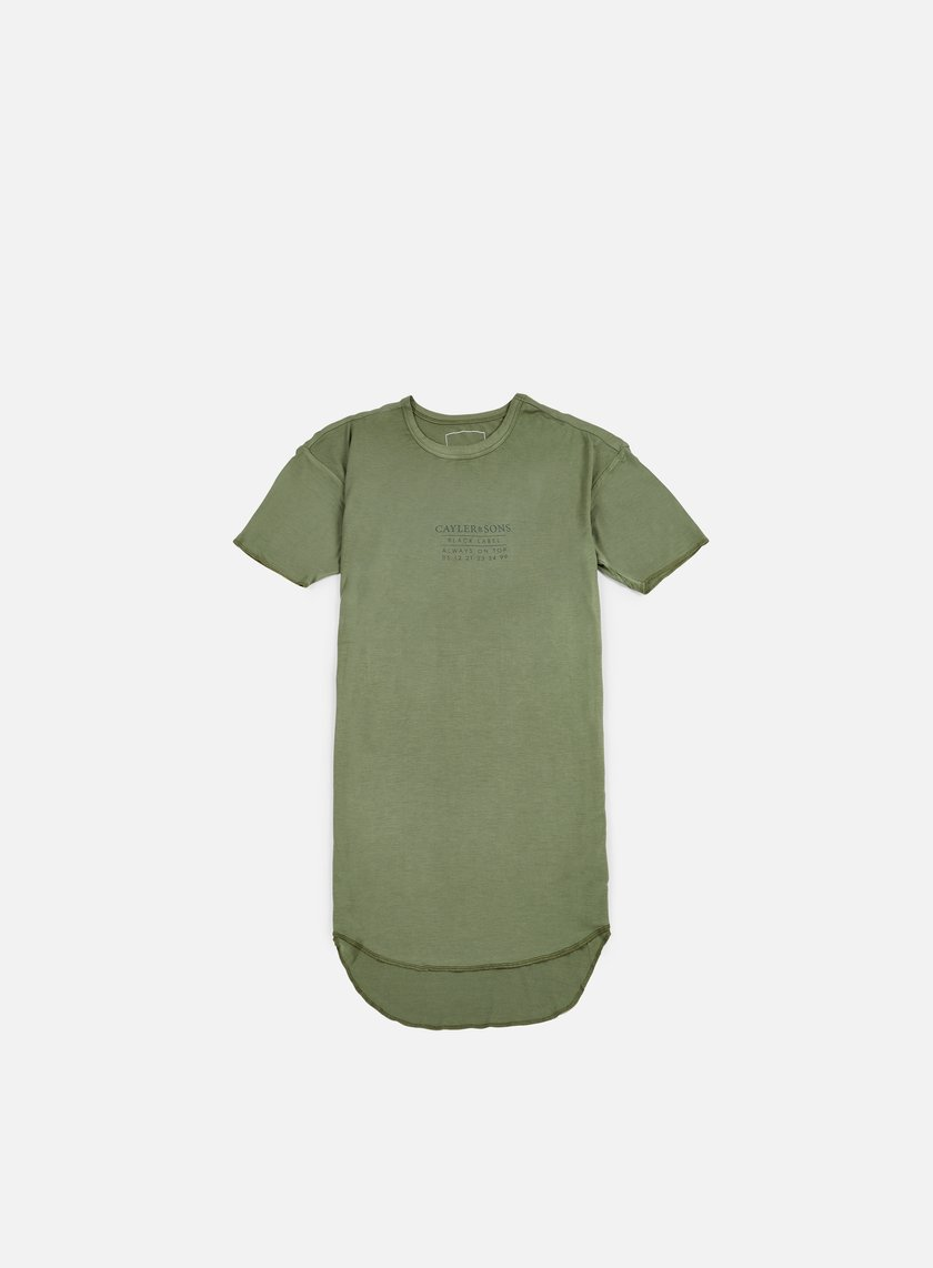 Cayler & Sons - Drop Scallop T-shirt, Olive/Black