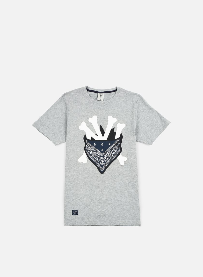 Cayler & Sons - Grime T-shirt, Grey Heather/White/Navy