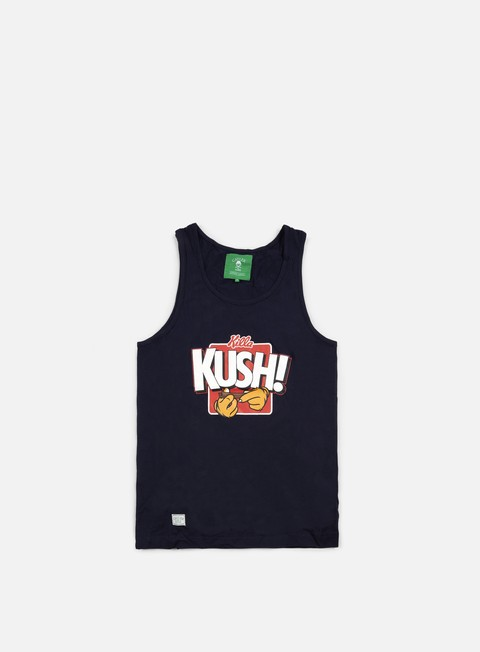 t shirt cayler e sons killa kush tank top navy red white