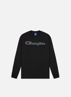 Champion - Chenille Logo LS T-shirt, Black