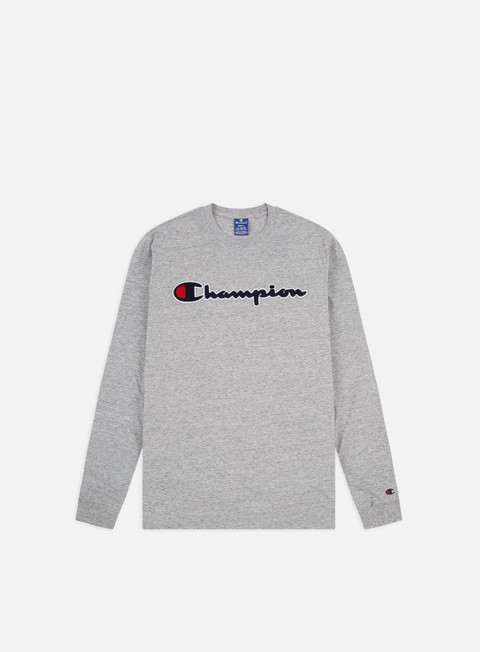 Long Sleeve T-shirts Champion Chenille Logo LS T-shirt