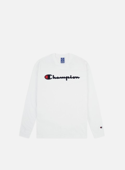 Sale Outlet Long sleeve T-shirts Champion Chenille Logo LS T-shirt
