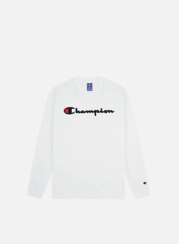 Champion Chenille Logo LS T-shirt
