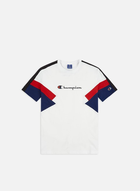 Outlet e Saldi T-shirt a Manica Corta Champion Colorblock Printed Logo T-shirt