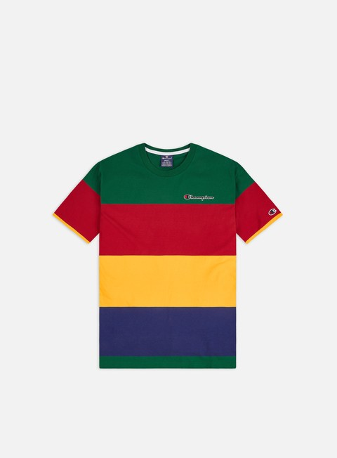 T-shirt a Manica Corta Champion Colour Block Stripe T-shirt