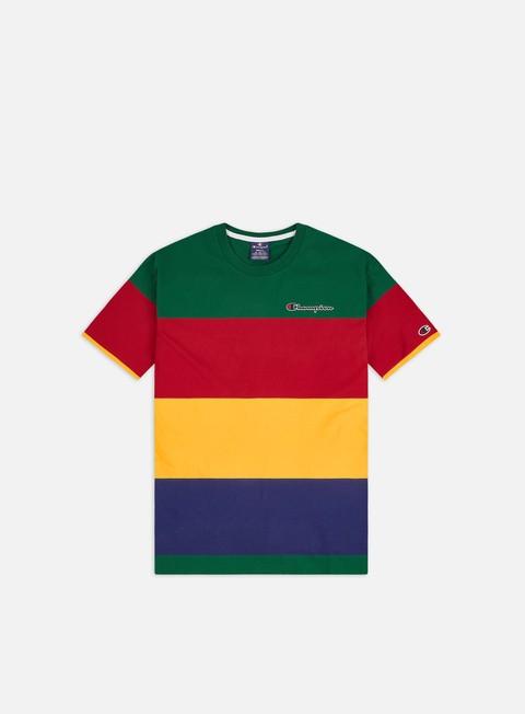 Outlet e Saldi T-shirt a Manica Corta Champion Colour Block Stripe T-shirt