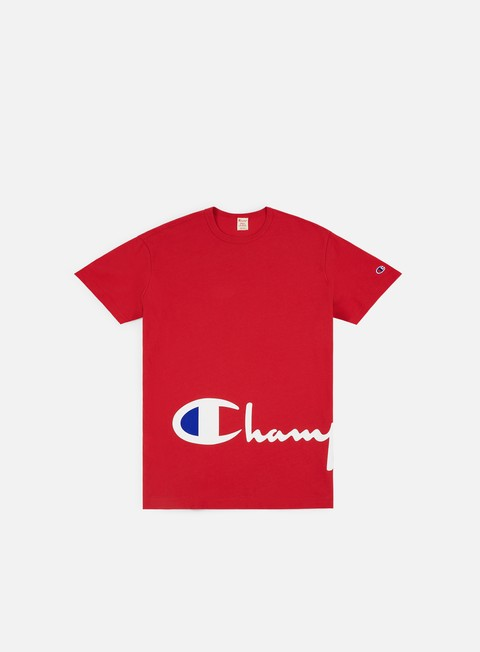 t shirt champion crewneck t shirt red