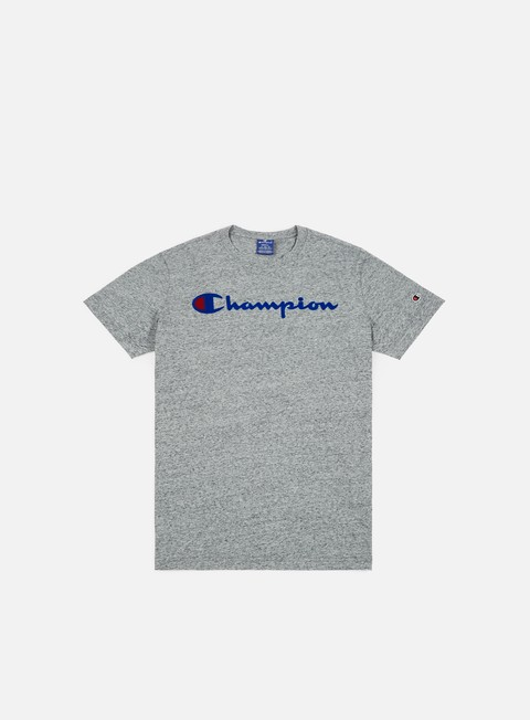 t shirt champion garment washed t shirt grey light melange