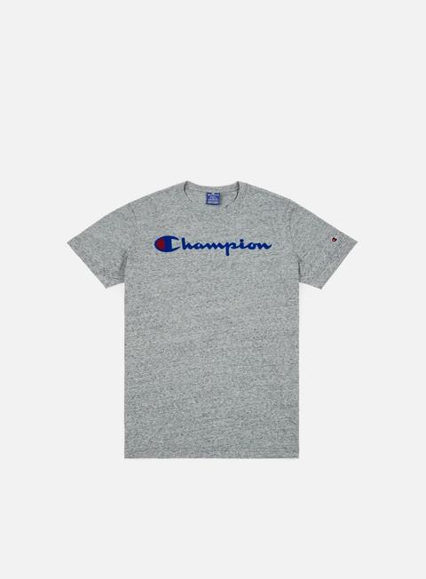 t shirt champion garment washed t shirt grey light melange