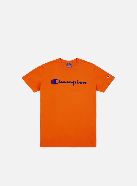 t shirt champion garment washed t shirt orange