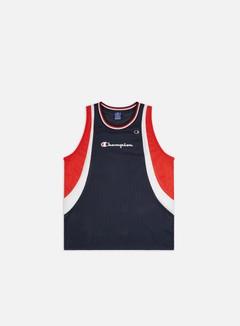 Champion - Mesh Tank Top, Navy/Red/White