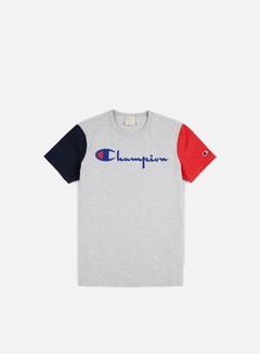 Champion - Reverse Weave Contrast T-shirt, Heather Grey 1